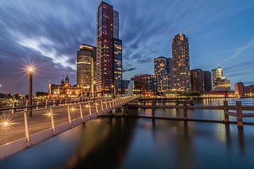 Rijnhavenbrug en Kop van Zuid, Rotterdam van Peter Hooijmeijer