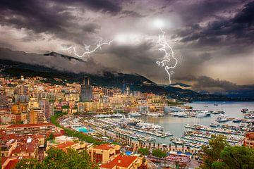 Monaco met onweer van