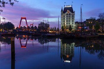 Vroege ochtend in de Oude Haven van Rotterdam van Mark De Rooij