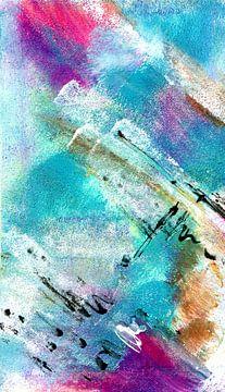 Turquoise 1 van Claudia Gründler