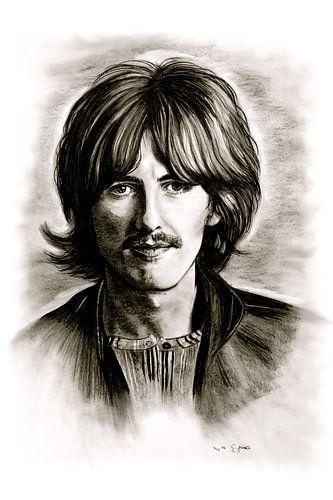 George Harrison In Black And White van