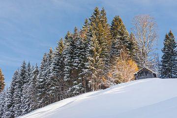 Winterlandschaft in Süddeutschland von Henk Meijer Photography