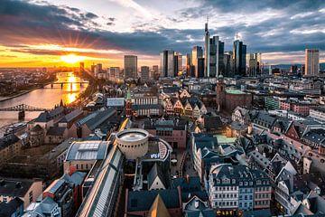 Frankfurt am Main, bij zonsondergang van Fotos by Jan Wehnert