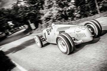Auto Union Grand Prix Rennwagen Type C V16 op hoge snelheid van Sjoerd van der Wal