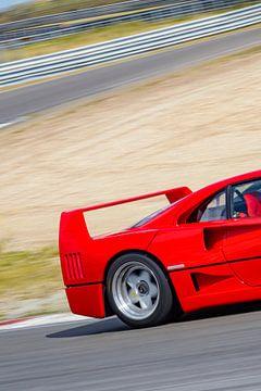 Ferrari F40 superauto op het circuit van Zandvoort van Sjoerd van der Wal