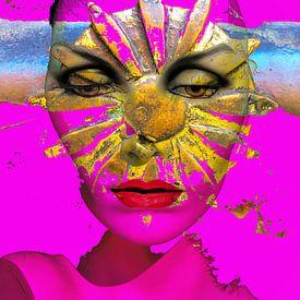 The face with the sun von Gabi Hampe
