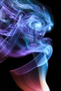 Beautiful Smoke on a black backdrop.