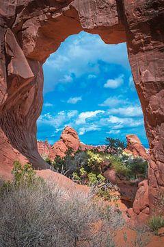 Arches Nationaal Park, Utah, doorkijkje van