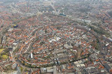 Luchtfoto Amersfoort met Lieve vrouwe toren. van