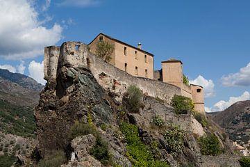 Schloss in Corte, Korsika von Kees van Dun