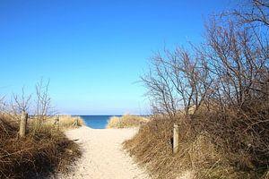 Strandaufgang im Winter