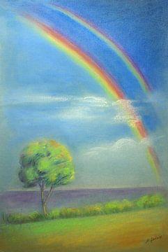 Licht en de regenboog - Hemelse Impression van Marita Zacharias