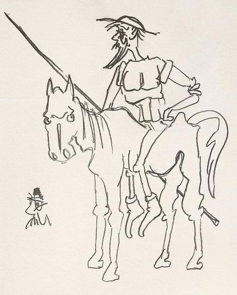 Don Quijote auf Rosinante von Wieland Teixeira