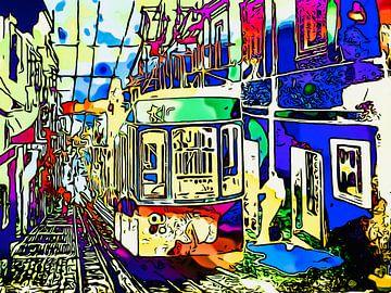 Tramlijn in Lissabon