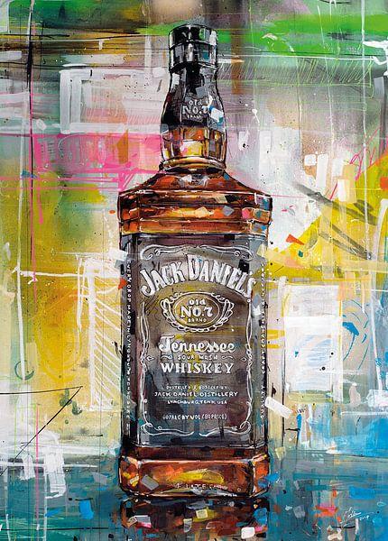 Jack Daniels No.7 schilderij van Jos Hoppenbrouwers