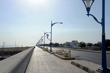 Kustweg bij Sohar (Oman) van Alphapics