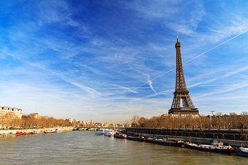 Seine en Eiffeltoren van Dennis van de Water