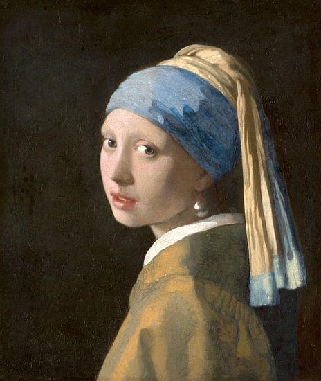 Meisje met parel - Meisje van Vermeer - Schilderij (HQ) van Schilderijen Nu