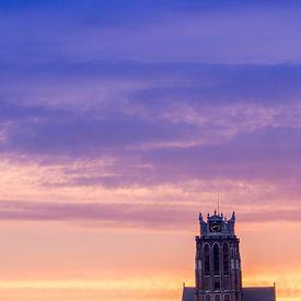 mooie lucht boven Dordrecht van Jeroen van Alten