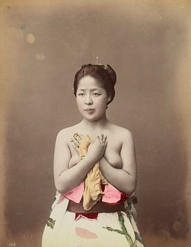 Oben-ohne-Frau, Vintage, Japan, 1800er