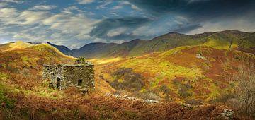 Ruinen in der zerklüfteten Landschaft, Lake District, Großbritannien von Rietje Bulthuis
