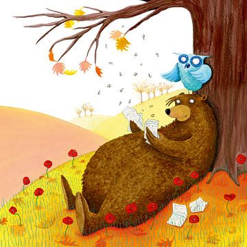 Ein Bär liest von