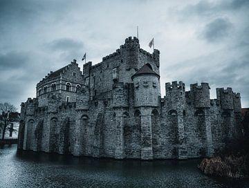 Gravensteen kasteel in Gent, België van Tom in 't Veld