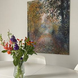 Klantfoto: August Renoir. In het bos, op canvas