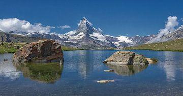 Stellisee und das Matterhorn von Karin Mooren
