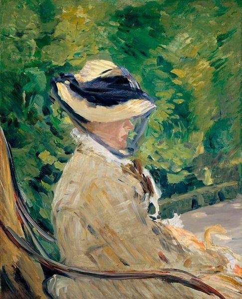 Madame Manet im Bellevue, Édouard Manet von Meesterlijcke Meesters