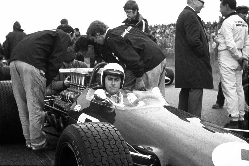Jack Brabham 1968 Grand Prix Zandvoort van Harry Hadders