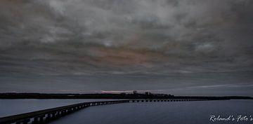 dreigende lucht vol kleur @ t Roegwold van Roland's Foto's