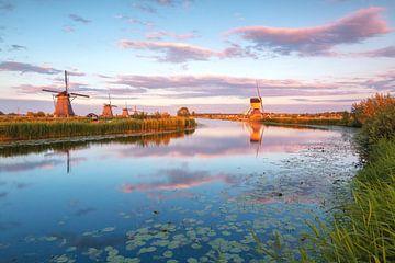 Kinderdijk in het gouden uur von Ilya Korzelius