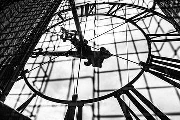 Uurwerk van de Martinitoren in Groningen van Evert Jan Luchies