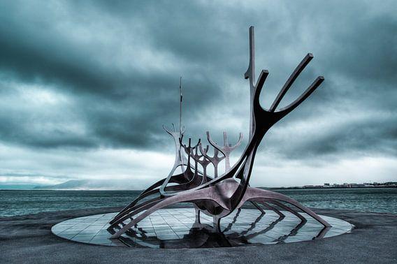 Solfar, voyage to the sun in Reykjavik,  IJsland