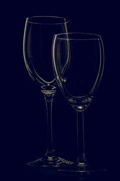 Wijn glazen van Pieter de Kramer