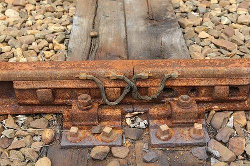 spoor rails met spoorbielzen