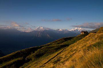zonsopkomst in Belalp Zwitserland von Paul Wendels