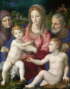 Heilige Familie mit St. Anna und dem Kind St. Johannes, Bronzino