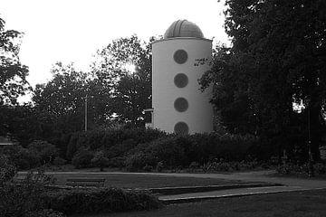 Dr. A.F. Philips Observatorium oder Eindhoven Observatorium in schwarz-weiß von tiny brok