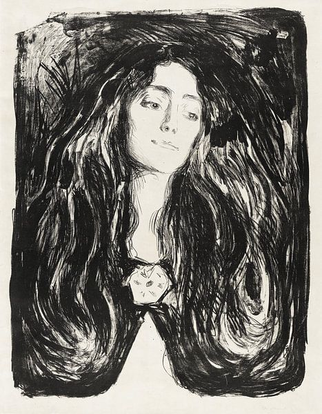 Die Brosche. Eva Mudocci, EDVARD MUNCH, 1903 von Atelier Liesjes