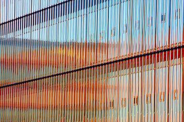 Massieve glazen wand kantoor  van Jan Brons
