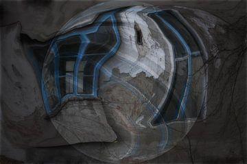 Window beeld -   Blauw Venster van