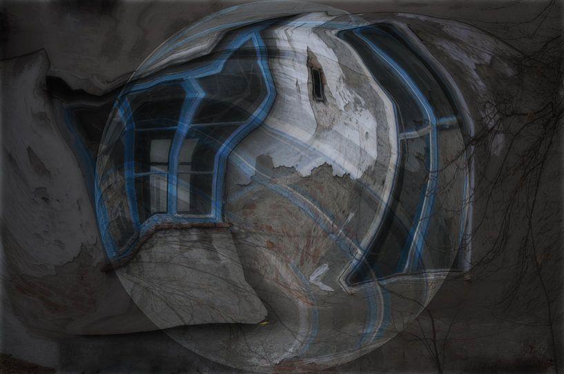 Window beeld -   Blauw Venster van Christine Nöhmeier