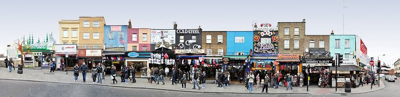 London Camden High Street Panorama van Panorama Streetline