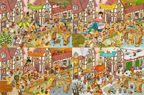 Die vier Jahreszeiten in meinem Dorf sur