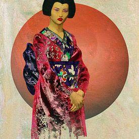 Vrouw van de wereld - Aziatische vrouw in traditionele kleding van Jan Keteleer
