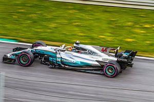 Lewis Hamilton in actie tijdens de Grand-Prix van Oostenrijk 2017 van