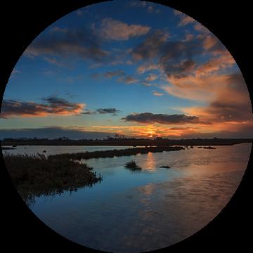 Sunset at the Onlanden van Wil de Boer