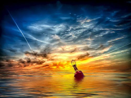 Boje auf dem Meer